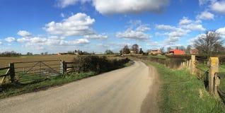 Landweg - North Yorkshire - het Verenigd Koninkrijk Stock Foto