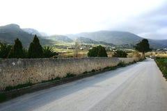 Landweg. Panorama Stock Fotografie