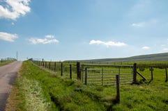 Landweggen rond de Zwarte bergen van Engeland en Wales Royalty-vrije Stock Afbeeldingen