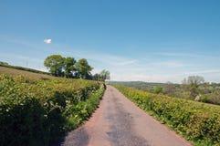 Landweggen rond de Zwarte bergen van Engeland en Wales Royalty-vrije Stock Fotografie