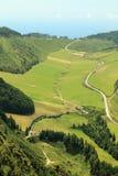 Landweggenmening van hoogte Stock Foto
