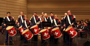 The Landwehr concert and marching band  Royalty Free Stock Photography