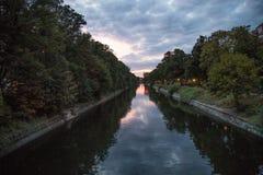 Landwehrkanal Berlin Arkivbild