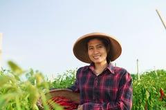 Landwirt der jungen Frau Lizenzfreies Stockbild