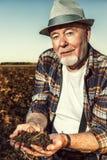 Landwirt im Ruhestand Lizenzfreies Stockbild