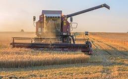 Landwirt im Traktor Lizenzfreies Stockfoto