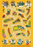 Landwirt-Markt Maze Game Lizenzfreies Stockfoto