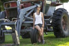 Landwirt-Tochter Lizenzfreie Stockfotos