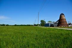 Landwirt und Felder Lizenzfreie Stockfotos
