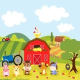 Landwirt- und Kätzchenzufuhrpferd Lizenzfreies Stockbild