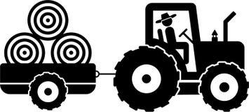 Landwirt und Traktor Stockfoto