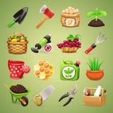 Landwirt-Werkzeug-Ikonen Set1.1 Lizenzfreie Stockfotos