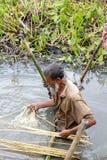 Landwirte arbeiten auf dem Gebiet stockfoto