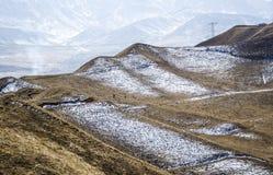 Landwirte am Fuß des Schneeberges Lizenzfreie Stockbilder