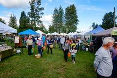 Landwirte vermarkten in Courtenay, Britisch-Columbia Kanada Lizenzfreie Stockfotos