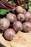 Landwirtmarkt in Nafplio, Griechenland, neue Ernte des roten Rote-Bete-Wurzeln Gem?se-, neuem und gesundembiologischen lebensmitt stockbild