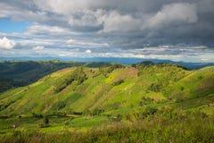 Landwirtschaft auf Berg Stockfotografie