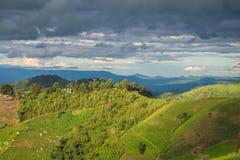 Landwirtschaft auf Berg Stockfoto