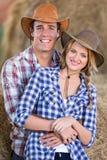 Landwirtschaft der Paarscheune Lizenzfreies Stockbild