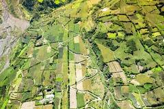 Landwirtschaft im Tungurahua-Antennen-Schuss Stockbild