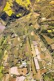 Landwirtschaft im Tungurahua-Antennen-Schuss Stockfotografie