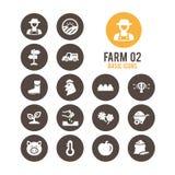 Landwirtschaft und Landwirtschaftsikone Auch im corel abgehobenen Betrag Stockbilder