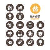 Landwirtschaft und Landwirtschaftsikone Auch im corel abgehobenen Betrag Stockfotografie