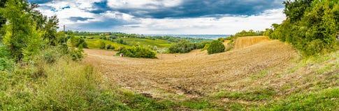 Landwirtschaft und Natur in Romagna-Hügeln Stockbild