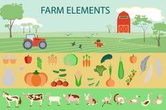 Landwirtschaft von infographic Elementen Stockfoto