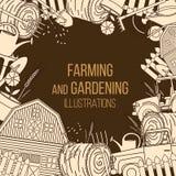 Landwirtschaft von landwirtschaftlichen Instrumenten Stockfotos