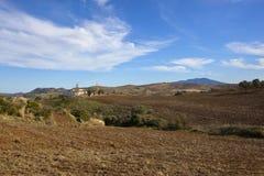 Landwirtschaftliche Abhänge von ländlichem Andalusien Stockbild