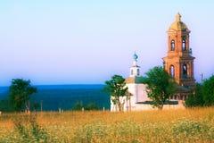 Landwirtschaftliche alte Kirche Lizenzfreie Stockfotos