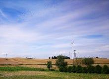 Landwirtschaftliche Ansicht Arristic-Blick in den Farben Stockbilder