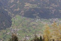 Landwirtschaftliche Ansichten in Österreich Stockfotos