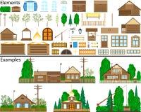 Landwirtschaftliche Aufbauten. Stockfotos
