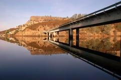 Landwirtschaftliche Datenbahn-Brücke stockbilder
