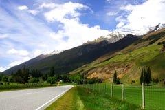 Landwirtschaftliche Datenbahn Neuseeland Stockfoto