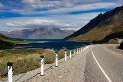 Landwirtschaftliche Datenbahn Neuseeland lizenzfreies stockbild