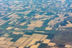 Landwirtschaftliche Felder des Südens von Russland stockfotos