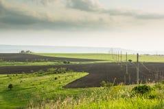 Landwirtschaftliche Felder und ETL Stockbild