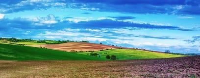 Landwirtschaftliche Frühlingslandschaft lizenzfreies stockbild