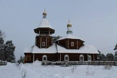 Landwirtschaftliche hölzerne Kirche Stockfoto