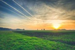 Landwirtschaftliche Herbstlandschaft Stockfotos