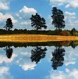Landwirtschaftliche Herbstlandschaften Stockbild
