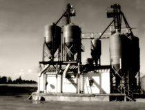 Landwirtschaftliche Industrie Stockfoto