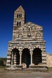 Landwirtschaftliche Kirche in Sardinien stockfotos