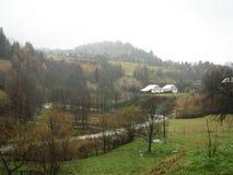 Landwirtschaftliche Landschaft. Stockfoto