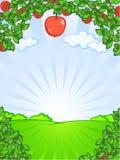 Landwirtschaftliche Landschaft Lizenzfreie Abbildung