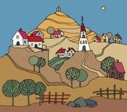 Landwirtschaftliche Landschaft Stockbild