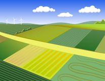 Landwirtschaftliche Landschaft des Sommers stockfotografie